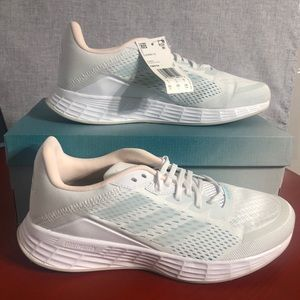NEW Adidas Duramo SL Women's Size 9.5 Running Shoes White/Pink/Blue Sneakers